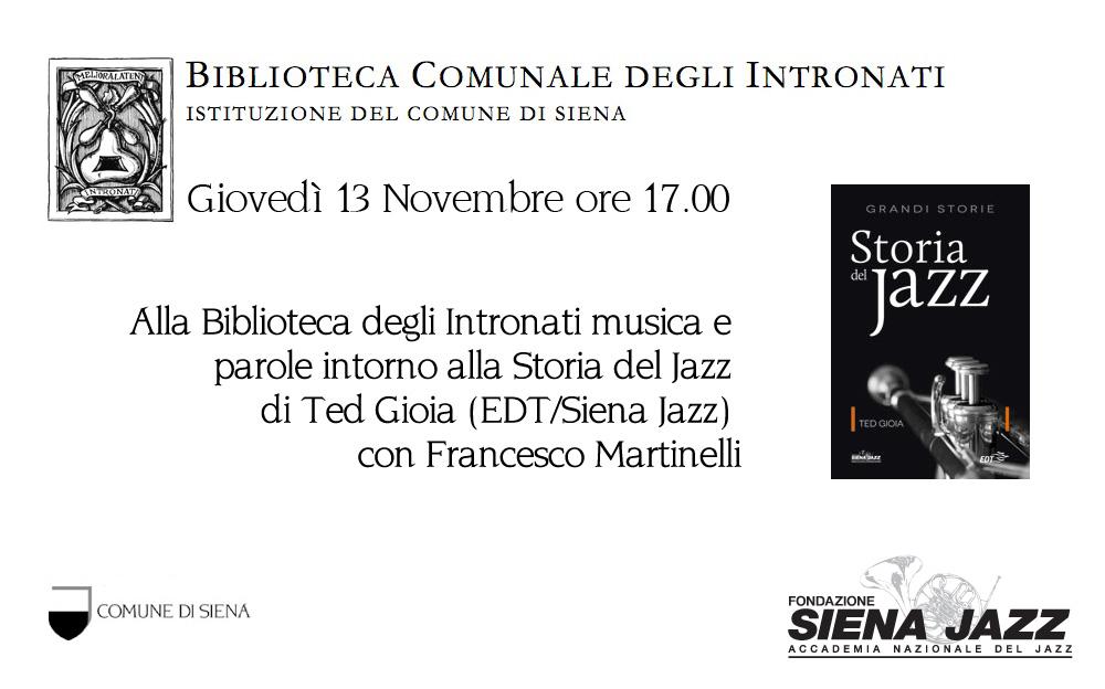"""Presentazione del libro """"Storia del Jazz"""""""
